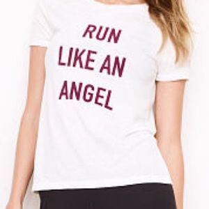 Victoria secret sport run like an angel t shirt